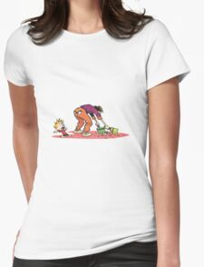 calvin and hobbes shock Womens Fitted T-Shirt