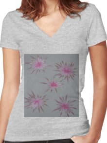 Starry Pinks Women's Fitted V-Neck T-Shirt