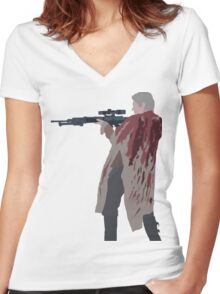 Carol Peletier - The Walking Dead Women's Fitted V-Neck T-Shirt
