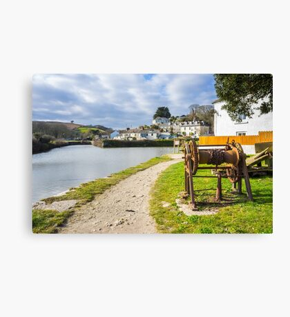 Pentewan Cornwall England UK Canvas Print