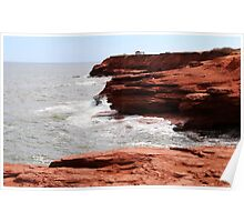 Cliffs of Cavendish PEI  Poster