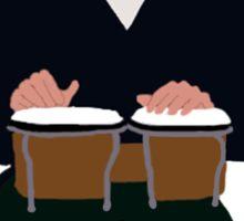 Sheldon Cooper Playing Bongos (with quote) - Minimalist design Sticker