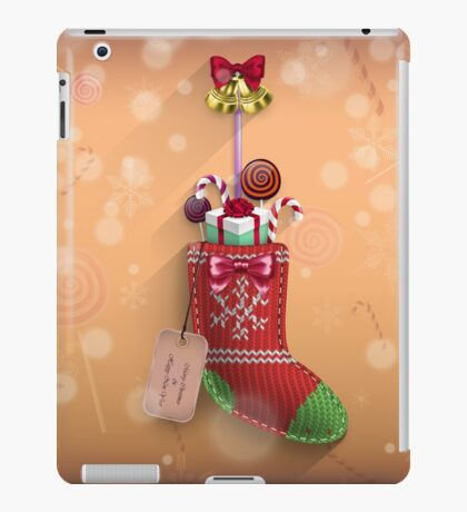 Knit Stocking Christmas Card iPad Case/Skin