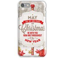 Joy and Peace Christmas Card iPhone Case/Skin