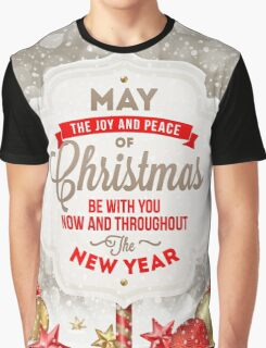 Joy and Peace Christmas Card Graphic T-Shirt