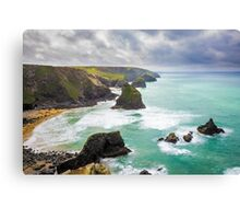 Pentire Steps Beach Cornwall Canvas Print