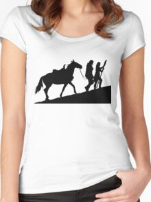 xena gabrielle and argo warrior princess Women's Fitted Scoop T-Shirt