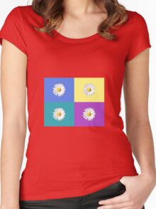 Daisy squares Women's Fitted Scoop T-Shirt