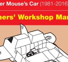 Haynes Manual - Danger Mouse's Car - Poster & stickers Sticker