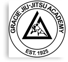 GRACIE BRAZILIAN JIU-JITSU Canvas Print