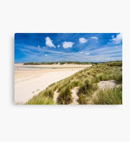 Porthkidney Sands Beach Cornwall England Canvas Print