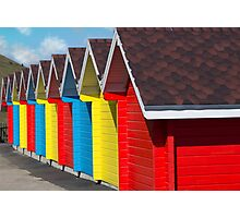 Whitby Beach Huts Photographic Print