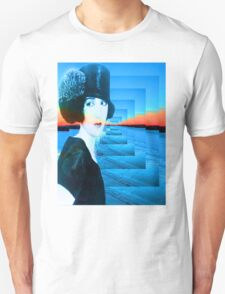 Top hat with snow Unisex T-Shirt