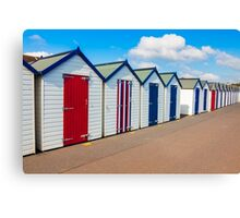 Beach Huts Preston Sands Devon Canvas Print