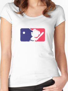 Peanuts League Baseball Women's Fitted Scoop T-Shirt