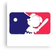Peanuts League Baseball Canvas Print