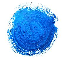Blue brush strokes Photographic Print