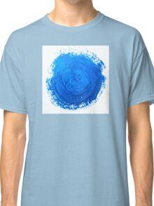 Blue brush strokes Classic T-Shirt