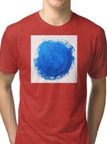 Blue brush strokes Tri-blend T-Shirt