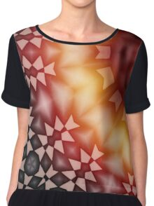 Radial geometric glowing pattern with warm colors Chiffon Top