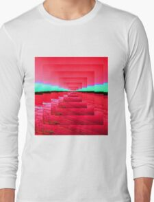 Red Abstract Long Sleeve T-Shirt