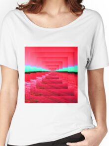 Red Abstract Women's Relaxed Fit T-Shirt