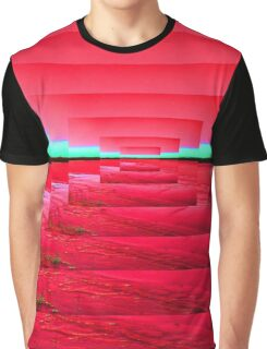 Red Abstract Graphic T-Shirt