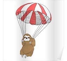 Sloth Parachute Poster