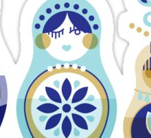 Russian Nesting Dolls – Blue & Gold Sticker