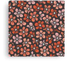 orange flower seamless pattern Canvas Print