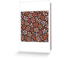 orange flower seamless pattern Greeting Card