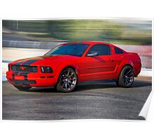 Modern Mustang Muscle 'Seeing Red' Poster