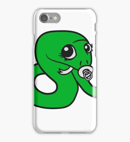 baby, infant pacifier snake sweet cute kawaii comic cartoon funny iPhone Case/Skin