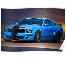 Mustang Muscle 'Feeling a Little Blue' Poster