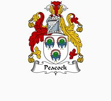 Peacock Coat of Arms / Peacock Family Crest Unisex T-Shirt