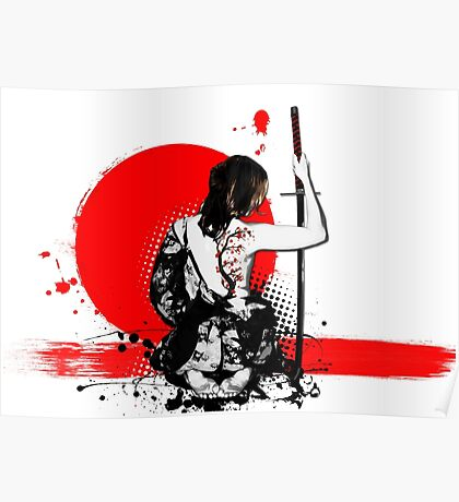 Trash Polka - Female Samurai Poster
