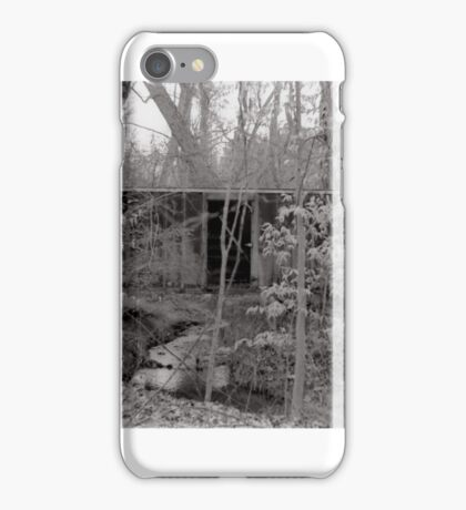 Abandoned Train Car in Woods iPhone Case/Skin