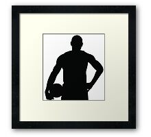 LeBron James Silhouette Framed Print