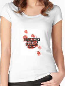 The White Stripes - Ball and a biscuit  Women's Fitted Scoop T-Shirt