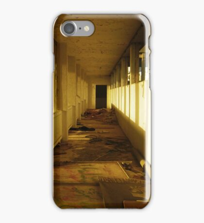 Abandoned corridors iPhone Case/Skin