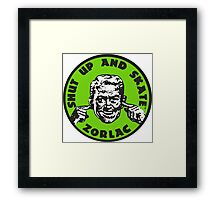 ZORLAC 80´S SKATEBOARDS (GREEN) Framed Print