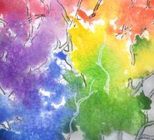 Chasing rainbows in the dark Sticker