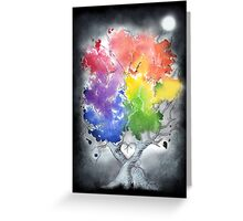 Chasing rainbows in the dark Greeting Card
