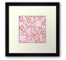 tender floral pink seamless pattern Framed Print