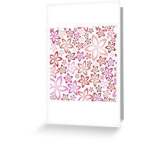 tender floral pink seamless pattern Greeting Card