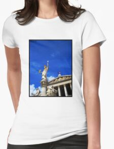 Pallas Athene Fountain Womens Fitted T-Shirt