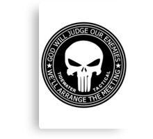 THE PUNISHER - GOD WILL JUDGE OUR ENEMIES Canvas Print