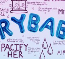 Cry Baby Album Songs Sticker