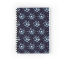 Christmas Card - Snowflakes Spiral Notebook