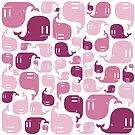 Pink Whale Pattern by dismantledesign